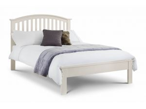 Julian Bowen Olivia 4ft6 Double Stone White Wooden Bed