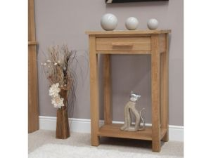 Opus Oak Small Hall Console Table