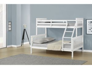 Oliver White Wood Triple Sleeper Bunk Bed