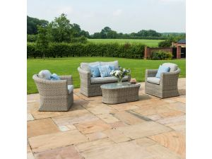 Maze Oxford Grey Rattan 2 Seat Sofa Set