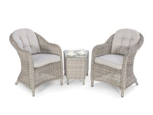 Maze Oxford Grey Rattan 3pc Lounge Set