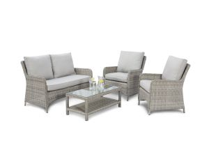 Maze Oxford Grey Rattan High Back Sofa Set