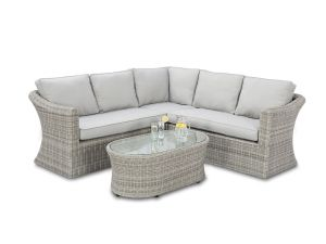 Maze Oxford Grey Rattan Small Corner Group