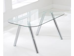 Pantheon 160 cm Glass Dining Table