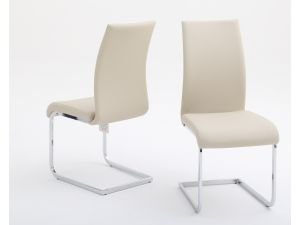 Fairmont Paolo Leather Dining Chairs Pair