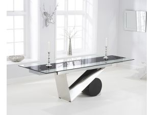 Peru 170cm Glass Ext. Dining Table