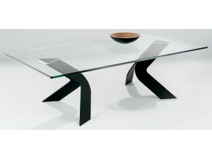 Chelsom Duel Rectangular Glass Coffee Table
