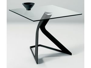 Chelsom Duel Square Glass Lamp Table