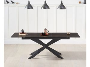 Britolli 180cm Brown Ceramic Ext. Dining Table