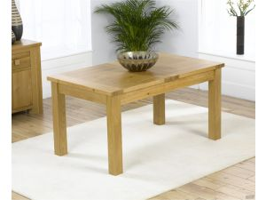 Rustique Classical Solid Oak Dining Table Extends to 160 cm