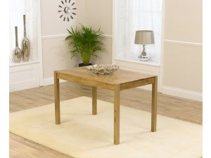 Promo 120cm Solid Oak Rectangular Dining Table