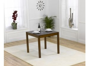 Marbella 80cm Solid Dark Oak Square Dining Table