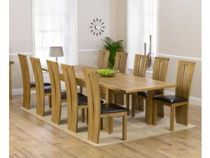 Rustique 220cm Ext. Dining Table + 10 Arizona Chairs Set