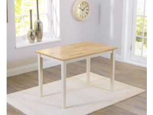 Chichester 150cm Painted Oak & Cream Wooden Ext. Dining Table