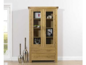 Avignon Solid Oak With Veneered Panel Display Unit