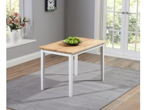 Chichester 150cm Painted Oak & Grey Wooden Ext. Dining Table