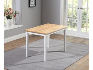 Chichester 115cm Painted Oak & White Wooden Ext. Dining Table