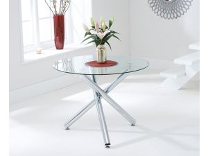 Odessa 100cm Round Glass Dining Table