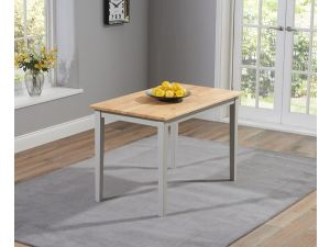 Chichester 115cm Painted Oak & Grey Wooden Ext. Dining Table