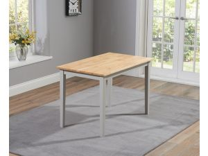 Chichester 150cm Painted Oak & White Wooden Ext. Dining Table