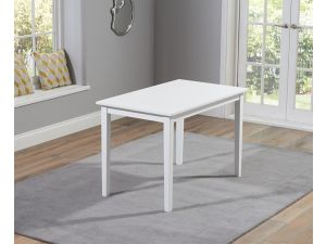 Chichester 115cm Painted White Wooden Ext. Dining Table