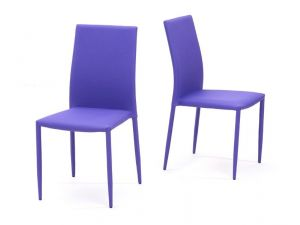 Ava Purple Stackable Fabric Chairs (Pair)