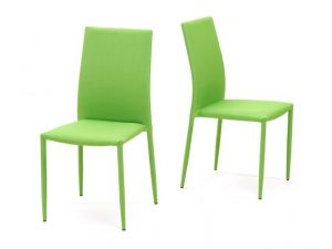 Ava Green Stackable Fabric Chairs (Pair)