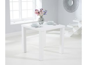 Ava 80cm Matt White Wooden Square Dining Table