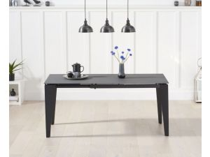 Val Disere Glass And Stone Grey Ext. Dining Table