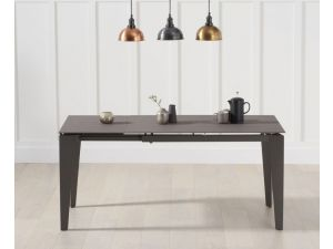 Val Disere Glass And Stone Brown Ext. Dining Table