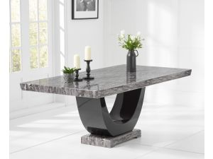 Rivilino 200cm Dark Grey Marble Rect. Dining Table