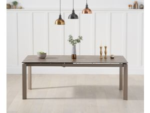 Violeta 140cm Brown Italian Ceramic Ext. Dining Table