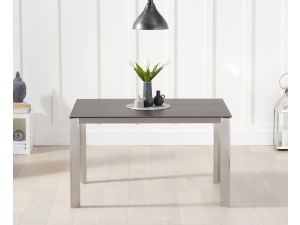 Alejandra 130cm Mink/Brown Spanish Ceramic Rect. Dining Table