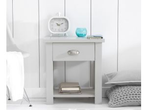 Sandringham Painted Grey Wooden Night Stand