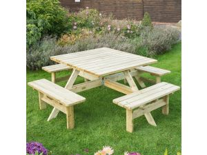 Rowlinson Wooden Square Picnic Table