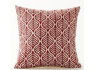 Royalcraft Red Leaves On White Background Scatter Cushion