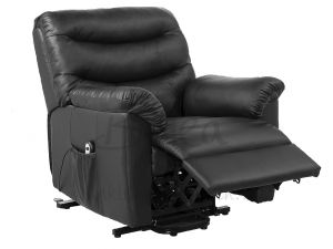 Birlea Regency Rise and Recliner Chair Black