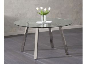 Remy Clear Glass Round Dining Table