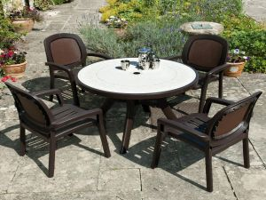 Europa Coffee Toscana 100 Ravenna Set With 4 Beta Chairs
