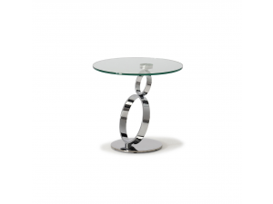 Rings Clear Glass Lamp Table