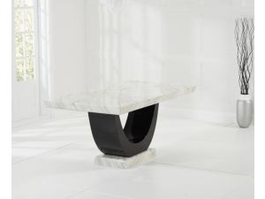 Rivilino Cream And Black Constituted Marble Dining Table