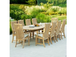 Alexander Rose Roble Extending 10 Seater Bengal Armchair Set