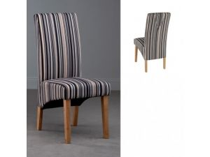 Roma Fabric Dining Chair Green