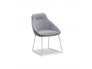 Rosslare Soft Grey Fabric Side Chair
