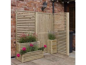 Rowlinson Garden Creations Horizontal Slat Panel (Pack of two)