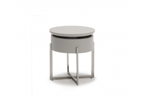 Roxanne Grey Frosted Glass Lamp Table