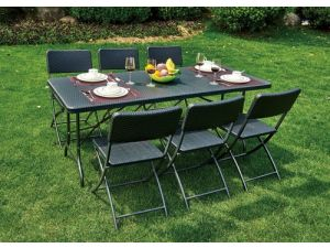 Royalcraft Palermo 180cm Folding Table with 6 Chairs