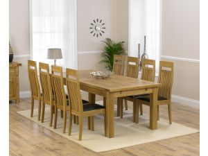 Rustique 220cm Ext. Dining Table + 8 Monte Carlo Chairs Set