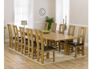 Rustique 120cm Oak Extending Dining Table + 6 John Louis Slatted Chairs