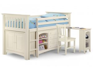 Julian Bowen Sleep Station White Bunk Bed ( Cameo Style ) Right Hand